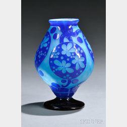 Le Verre Francais Azurette Vase