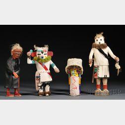 Four Polychrome Southwest Figures