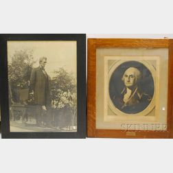 Five Framed U.S. Presidential and Historical Prints
