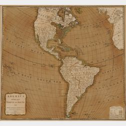 North and South America. America Divided into North and South with their Several Subdivisions and the Newest Discoveries.