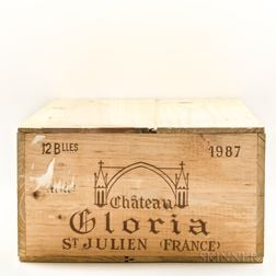 Chateau Gloria 1987, 12 bottles (owc)