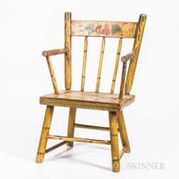 Paint-decorated Child's Windsor Armchair