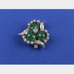 Emerald and Diamond Clasp
