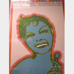 Judy Garland Lincoln Center Philharmonic Hall Poster
