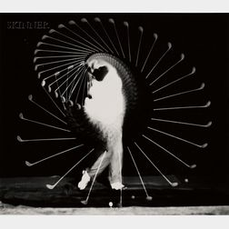 Harold Eugene Edgerton (American, 1903-1990)      Densmore Shute Bends the Shaft.
