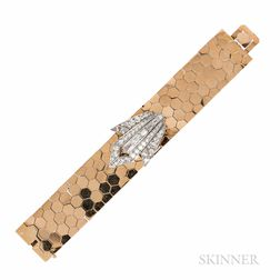 18kt Gold and Platinum and Diamond Covered Watch