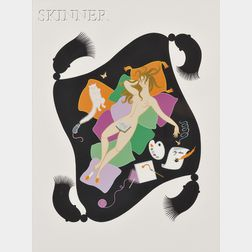 Romain de Tirtoff, called Erté (Russian, 1892-1990)      Sloth