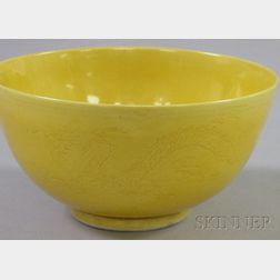 Asian Yellow Dragon Bowl