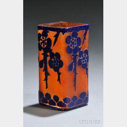 Le Verre Francais Cameo Glass Aubepines Vase