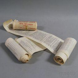 Three Dow Jones Teletype Rolls from RFK's Assassination