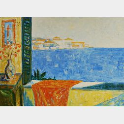 Russell Kordas (American, 20th Century)      Ocean View from Window