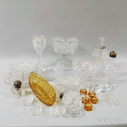 Large Group of Cut Glass Tableware