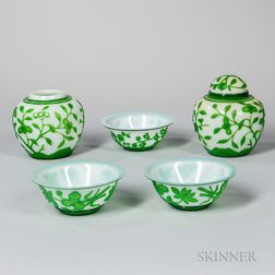 Five Pieces of Peking Glass