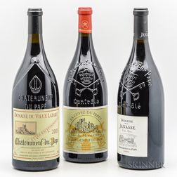 Mixed Chateauneuf du Pape Magnums, 3 magnums