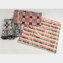 Three Woven Coverlets