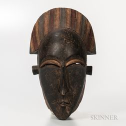 Baule-style Carved and Painted Mask