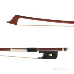 Silver-mounted Violoncello Bow