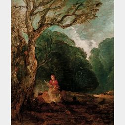 Attributed to Thomas Gainsborough (British, 1727-1788)      The Campfire
