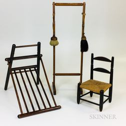 Two Shaker Racks and a Miniature Chair