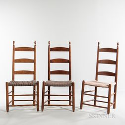 Pair of Shaker Side Chairs and Another
