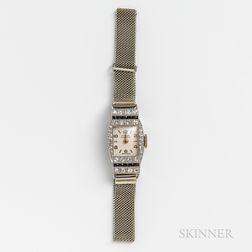 Tirza Platinum, Diamond, and Sapphire Lady's Wristwatch