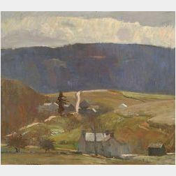 Daniel Garber (American, 1880-1958)  Milford Road