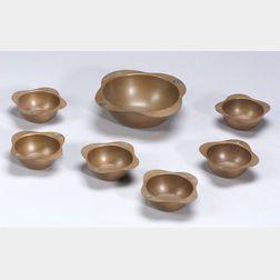Seven Pieces of  Benedict Copper Metalwork