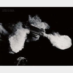 Harold Eugene Edgerton (American, 1903-1990)      Antique Gun Firing.