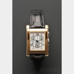 "Gentleman's 18kt Gold and Stainless Steel ""No. 7"" Wristwatch, Bedat & Co."