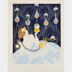 Romain de Tirtoff, called Erté (Russian, 1892-1990)      Stolen Kisses