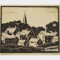George Lear (American, 1879-1956)      Houses of Nantucket