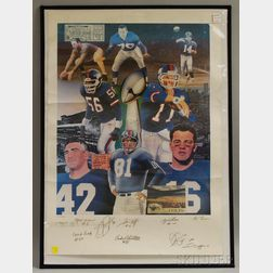 Unframed Autographed New York Giants Print