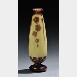 Le Verre Francais Cameo Glass Lierre Vase