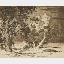 George Elbert Burr (American, 1859-1939)      Piñon Trees, New Mexico