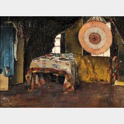 William McGregor Paxton (American, 1869-1941)      Studio Interior