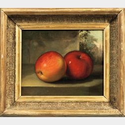 Anglo/American School, 19th Century      Still Life with Two Apples.