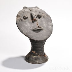Akan Terra-cotta Funerary Head