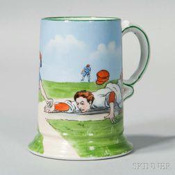 Porcelain Baseball Mug