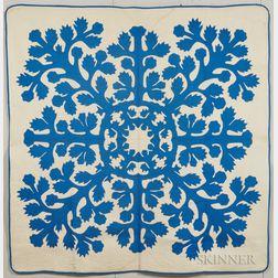 Floral Applique Hawaiian Quilt