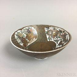 Modern Japanese Gilt and Enameled Porcelain Bowl
