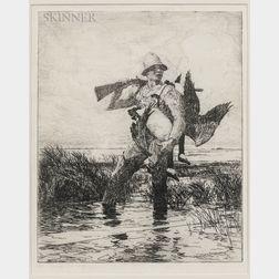 Frank Weston Benson (American, 1862-1951)      Marsh Gunner