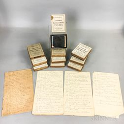 Seventy-two Robert Louis Stevenson and Related Glass Slides