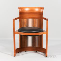 "Frank Lloyd Wright by Copeland ""Taliesin Barrel Chair,"""