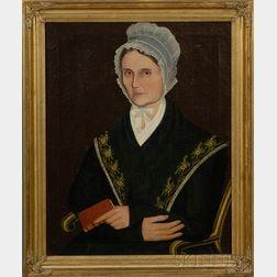 Ammi Phillips (American, 1788-1865)      Portrait of Rhoda Bennet Couch.