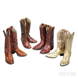 Little Jimmy Dickens     Four Pairs of Leather Cowboy Boots