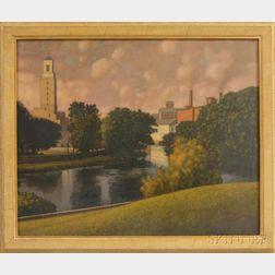 Charles Trentman (Trent) Burleson (American, b. 1952)      Mills on the River