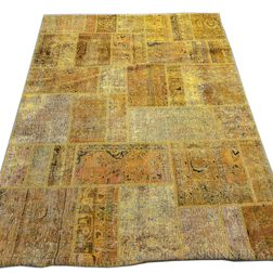 Contemporary Turkish Patchwork Carpet