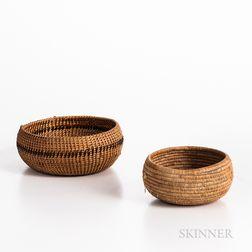 Two Northwest Coast Baskets