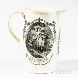 "Liverpool Transfer-decorated ""Faith/Charity"" Jug"