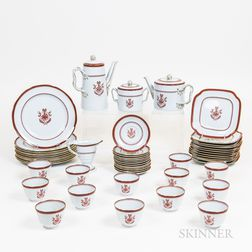 "Sixty Pieces of Spode ""Newburyport"" Porcelain Tableware"